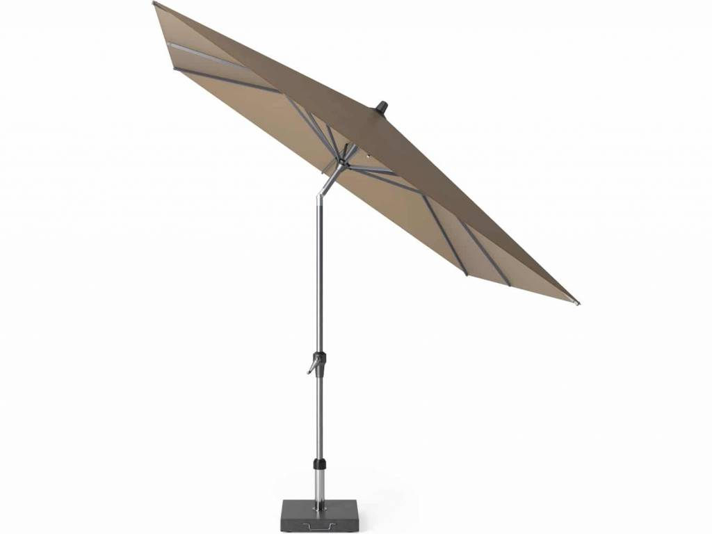 Riva parasol 250x250 cm taupe met kniksysteem