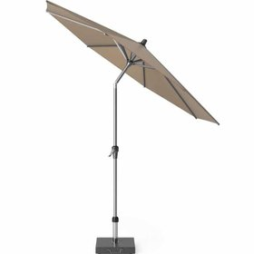 Platinum Riva parasol 250 cm rond taupe met kniksysteem