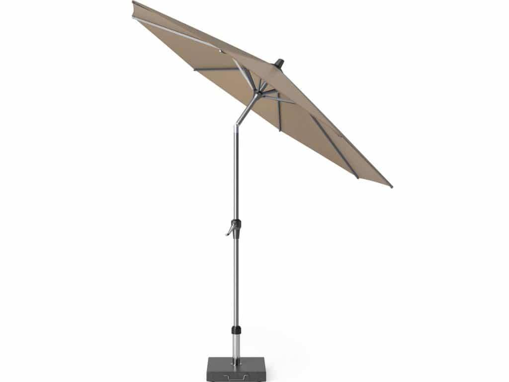 Riva parasol 250 cm rond taupe met kniksysteem