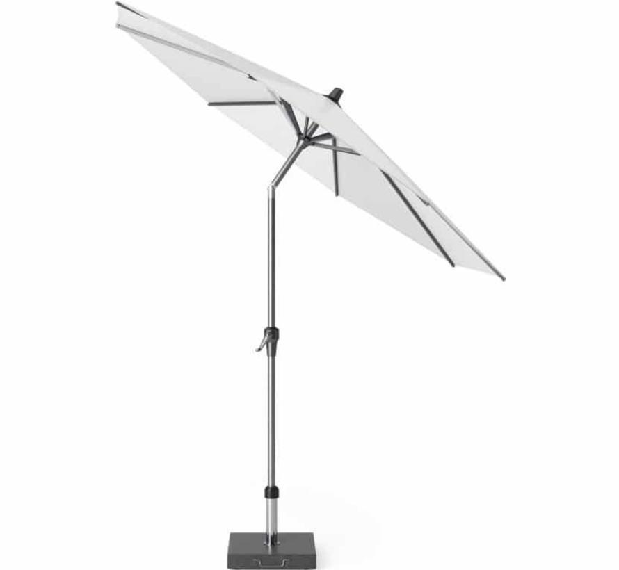 Riva parasol 250 cm rond wit met kniksysteem