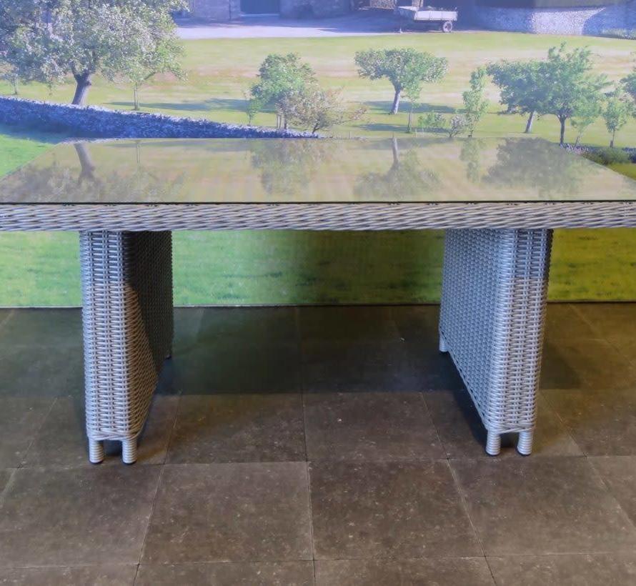 San Diego lounge-dining tuintafel 140x80xH67 cm grijs