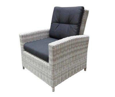 AVH-Collectie San Marino lounge tuinstoel verstelbaar wit grijs