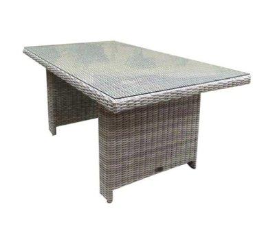 AVH-Collectie San Marino lounge-diningtafel 146x84,5xH66,5 cm wit grijs