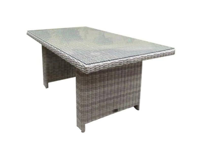 San Marino lounge-diningtafel 146x84,5xH66,5 cm wit grijs