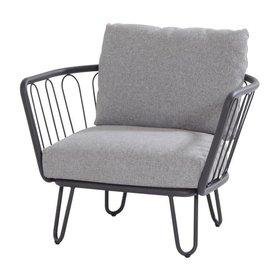 4 Seasons Outdoor Premium lounge tuinstoel aluminium antraciet 4-Seasons Outdoor