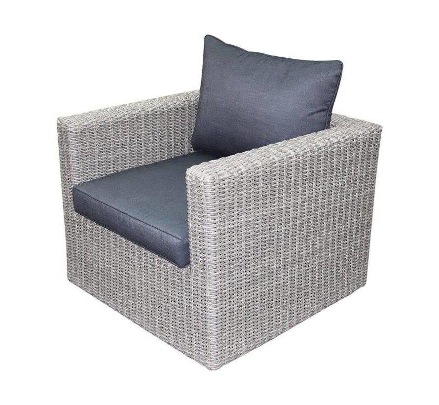 Patros lounge tuinstoel grijs