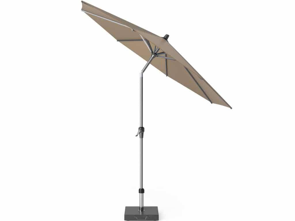 Riva parasol 270 cm rond taupe met kniksysteem