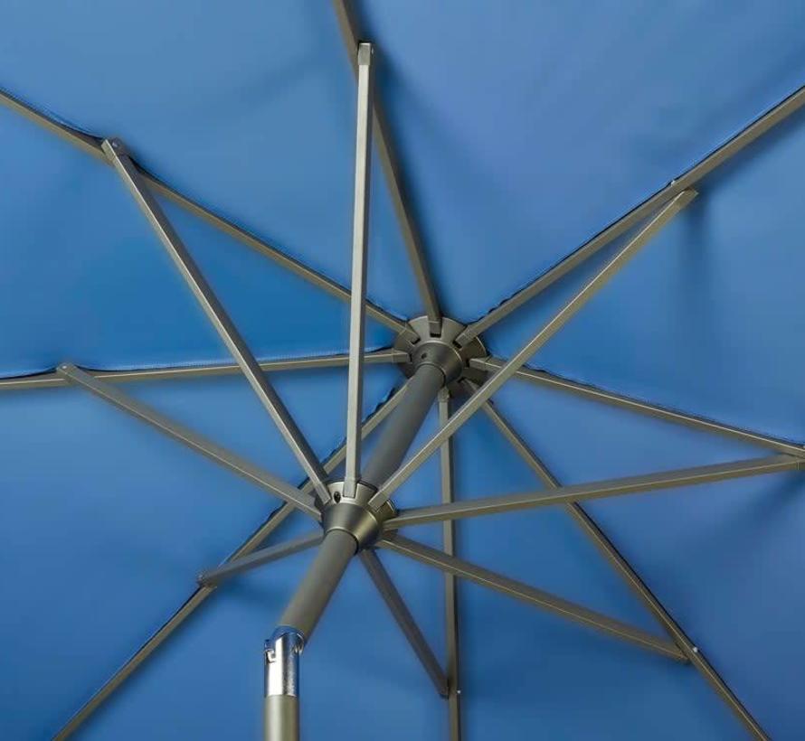 Riva parasol 300 cm rond blauw met kniksysteem