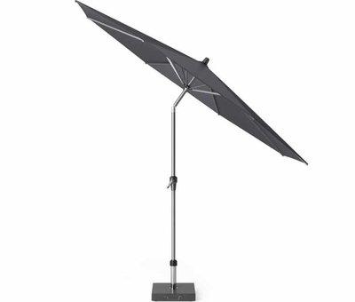 Platinum Riva parasol 300 cm rond zwart met kniksysteem