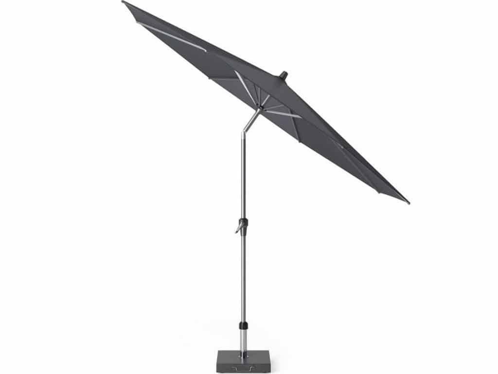 Riva parasol 300 cm rond zwart met kniksysteem