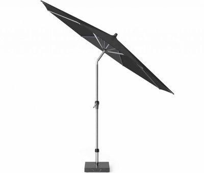 Platinum Riva premium parasol 300 cm rond faded black met kniksysteem