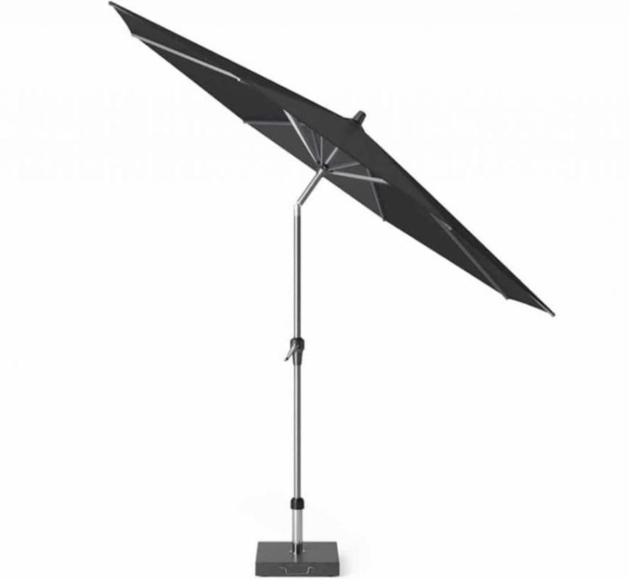 Riva premium parasol 300 cm rond faded black met kniksysteem