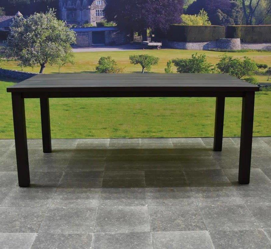 Prato dining tuintafel 180x90xH72 cm aluminium antraciet