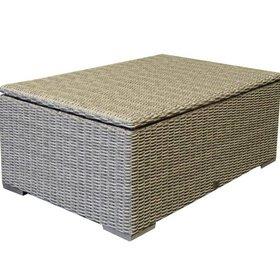 AVH-Collectie Saba lounge tuintafel – kussenbox 110x80x80H cm grijs