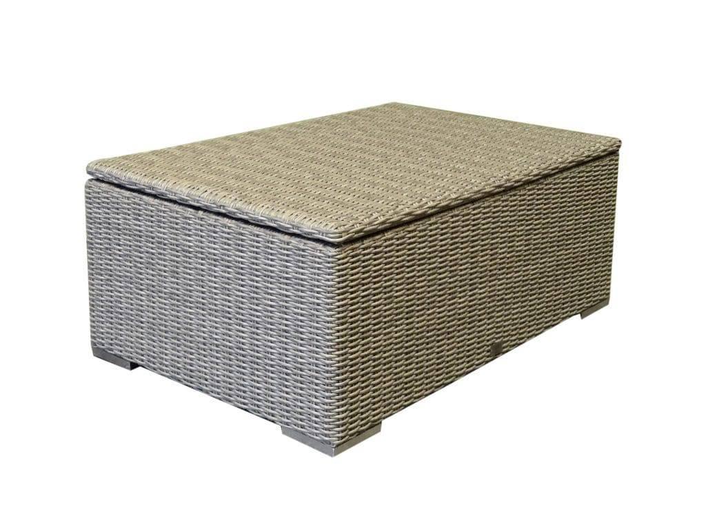 Saba lounge tuintafel? kussenbox 110x80x80H cm grijs