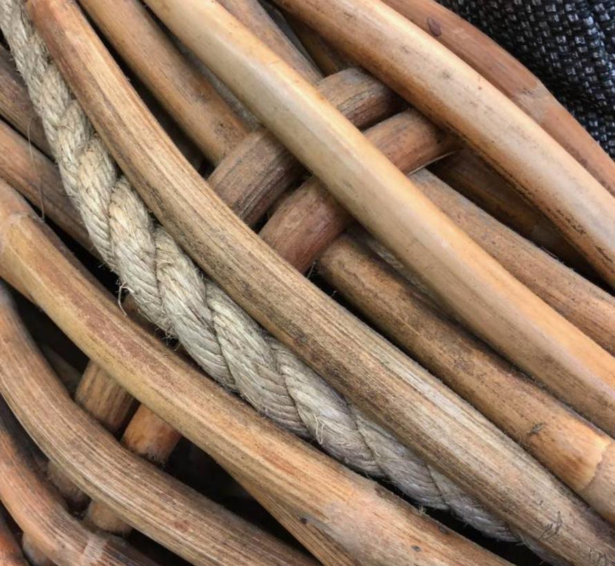Sabuga 3-zitsbank ovaal naturel rotan