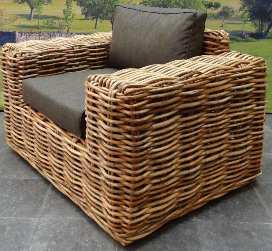 Sabuga lounge tuinstoel naturel rotan