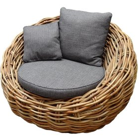 AVH-Collectie Sabuga lounge tuinstoel ovaal naturel rotan