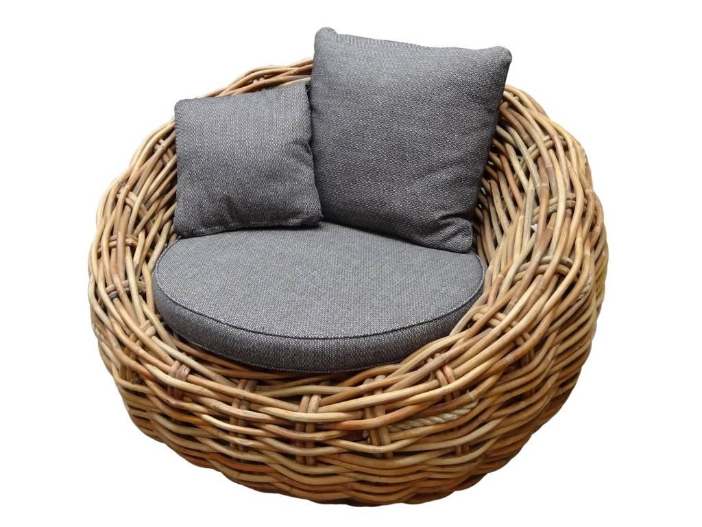 Sabuga lounge tuinstoel ovaal naturel rotan