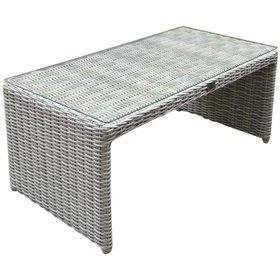 AVH-Collectie Salerno lounge tuintafel 103x53xH42 cm wit grijs