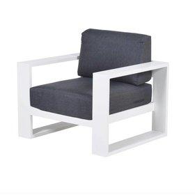 Garden Impressions Cube lounge tuinstoel aluminium wit