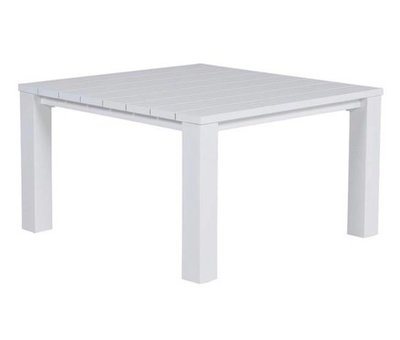 Garden Impressions Cube lounge-diningtafel 115x115xH68 cm aluminium wit