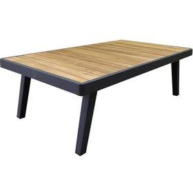 Higold Emoti lounge tuintafel 120x70xH38 cm aluminium zwart teak
