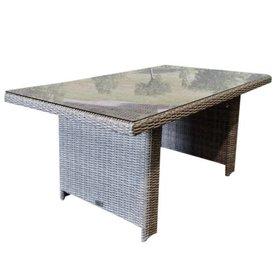 AVH-Collectie Ibiza lounge-dining tafel 140x80xH70 cm grijs
