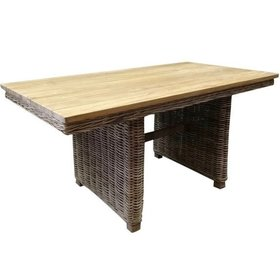 AVH-Collectie Ibiza lounge-dining tafel 146x82xH70 cm naturel  rotan teak