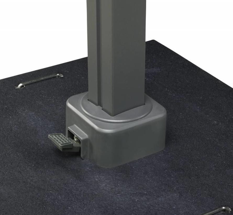 Icon zweefparasol 350x350 cm faded black