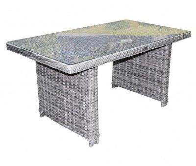 AVH-Collectie Kreta lounge-diningtafel 140x80xH70 cm grijs