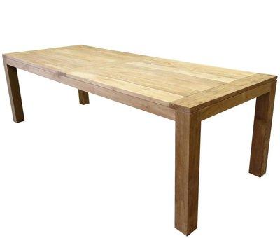 AVH-Collectie Krista dining tuintafel 260x100xH77,5 cm - poten 10 cm teak