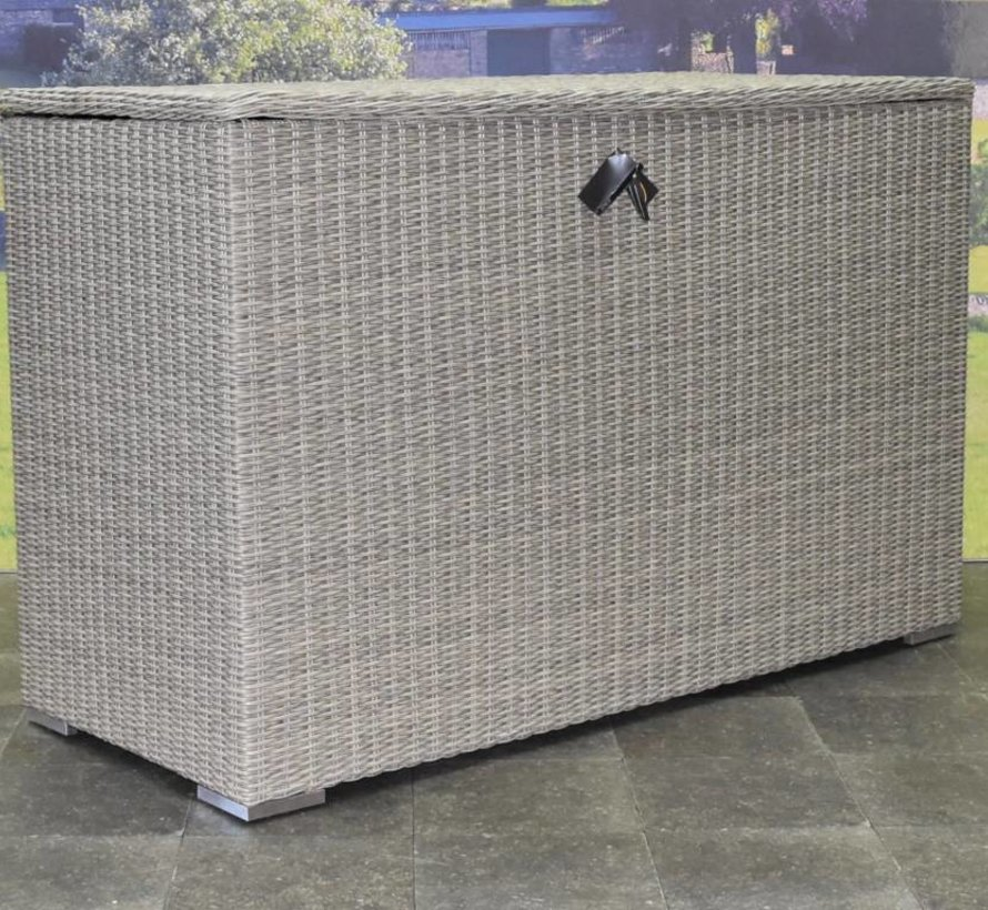 Kussenbox groot 167x70xH106 cm grijs