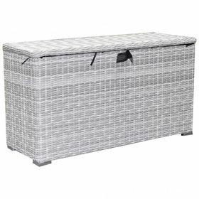 AVH-Collectie Kussenbox klein 126x47xH71 cm wit grijs