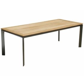 AVH-Collectie Magic dining tuintafel  220x100xH75 cm aluminium teak