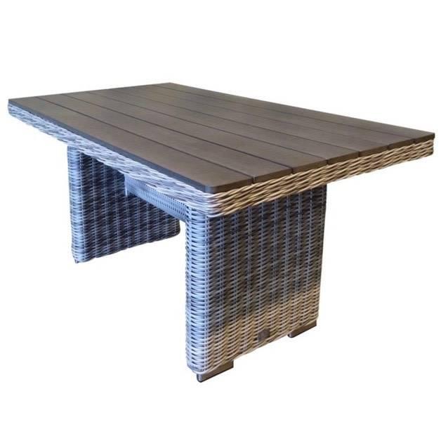 Mambo lounge-diningtafel 140x80xH65 cm wit grijs