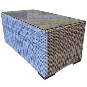 AVH-Collectie Mambo XL lounge tuintafel 120x60xH45 cm wit grijs