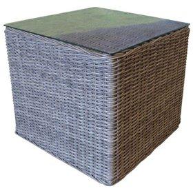 AVH-Collectie Menorca bijzettafel 55x55xH45 cm wit grijs