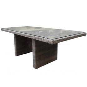 AVH-Collectie Menorca dining tuintafel 220x100xH75 cm grijs