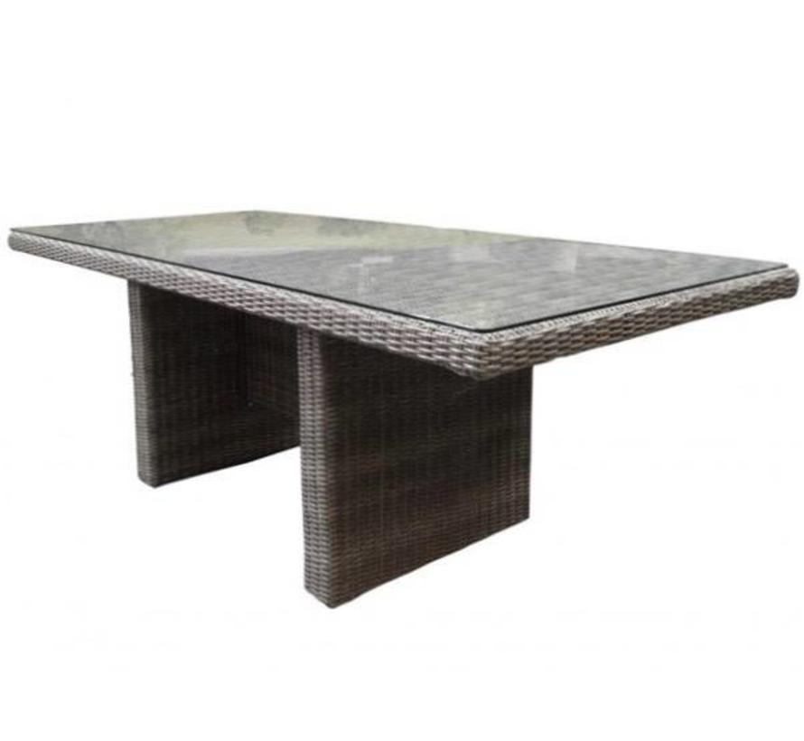 Menorca dining tuintafel 220x100xH75 cm grijs