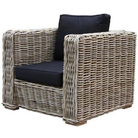 AVH-Collectie Nissah lounge tuinstoel naturel rotan - suntech black