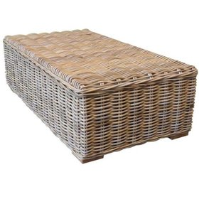 AVH-Collectie Nissah lounge tuintafel 143x75 naturel rotan