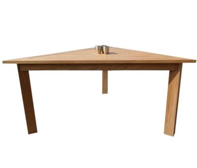 AVH-Collectie Old java dining tuintafel 200x200x200xH78 cm driehoek teak