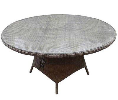 AVH-Collectie Riccione dining tuintafel 150 cm rond grijs