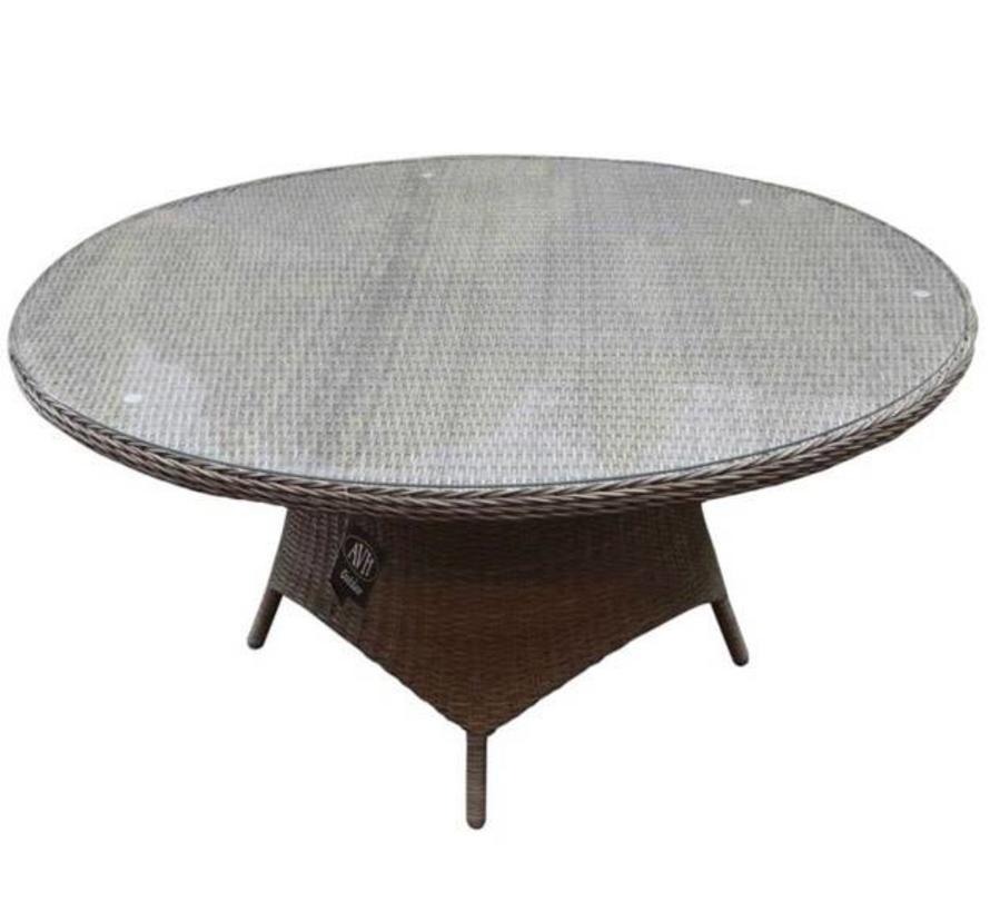Riccione dining tuintafel 150 cm rond grijs