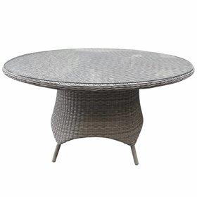 AVH-Collectie Riccione dining tuintafel 150 cm rond wit grijs