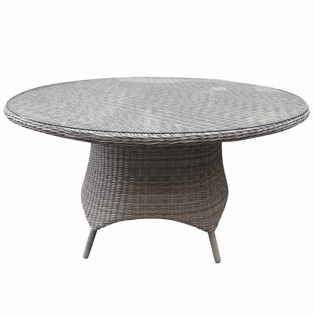 Riccione dining tuintafel 150 cm rond wit grijs