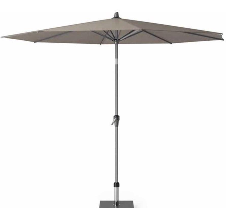 Riva premium parasol 300 cm rond havanna met kniksysteem