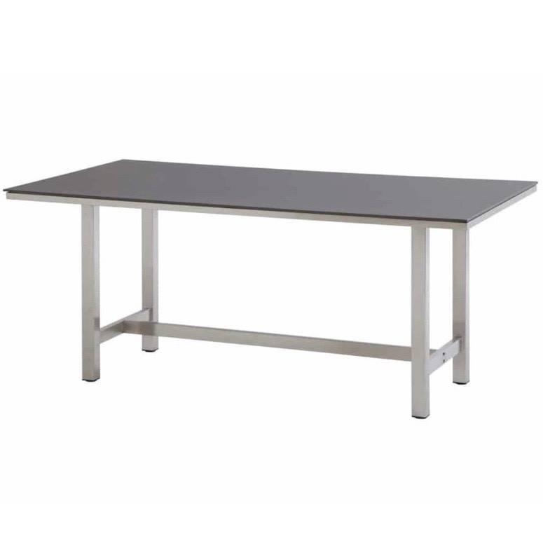Rivoli dining tuintafel 170x95 cm RVS - Slimtop mid grey 4-Seasons Outdoor
