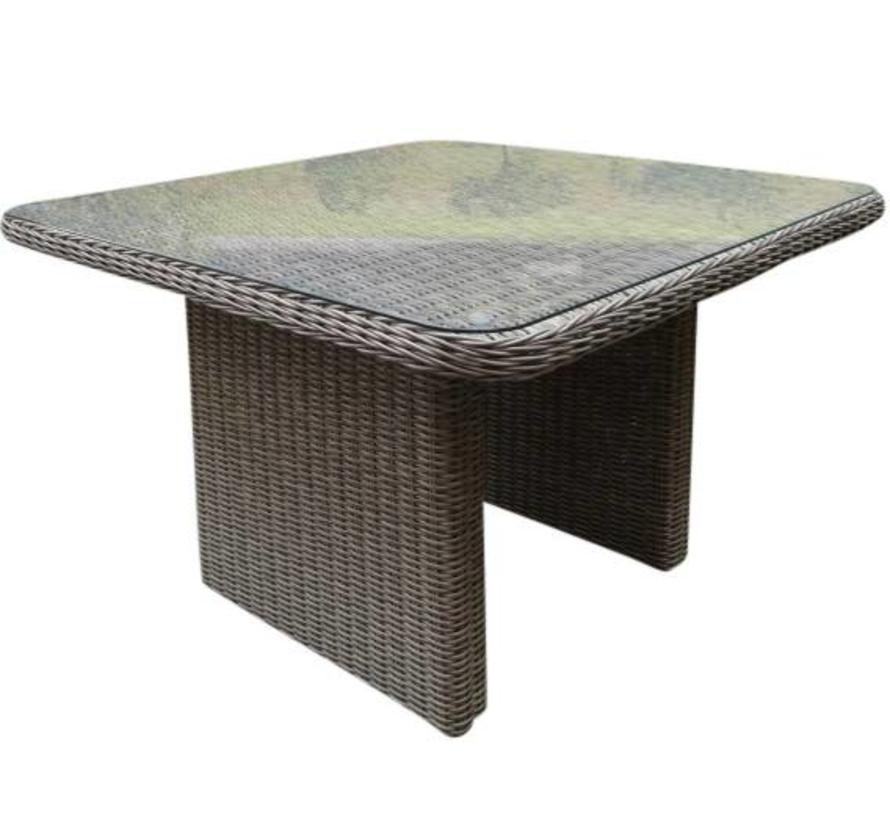 Roma lounge tuintafel 110x110xH63 cm  grijs